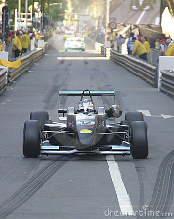 Formula racer in the city Editorial Stock Photo