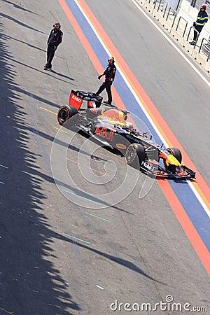 Formula 1 racing car pitt lane zandvoort circuit