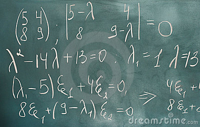 Formulas written