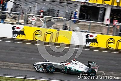 Formule 1 Auto Redactionele Stock Foto