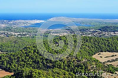 Fornells Bay in Menorca, Balearic Islands, Spain