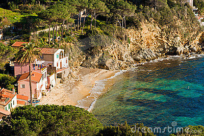 Forno Beach before sunset, Italy.
