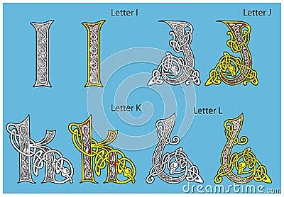 Forntida celtic för alfabet