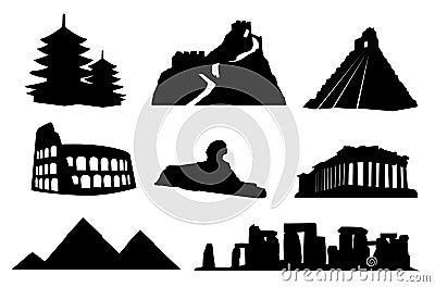 Forntida isolerad landmarksvärld
