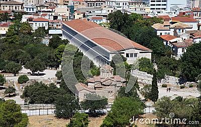 Forntida marknadsplats i Athens