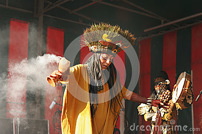 Forntida ritual i Mexico Redaktionell Foto