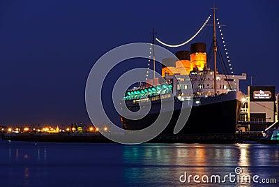 Forro de oceano de Queen Mary Imagem Editorial