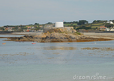 Fort in the bay.  Guernsey