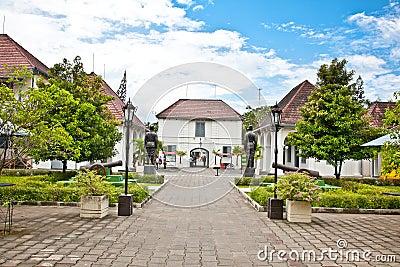 Fort Benteng Vredeburg museum in Yogyakarta , Java.
