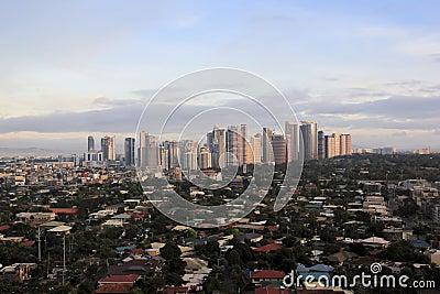 Fort bonifacio city skyline manila philippines Editorial Stock Photo