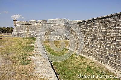 Fort Castillo in St. Augustine, Florida