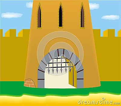 Fort castle gate