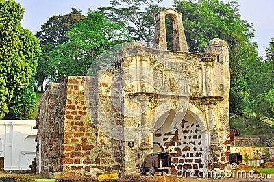 Fort d A Famosa dans Melaka