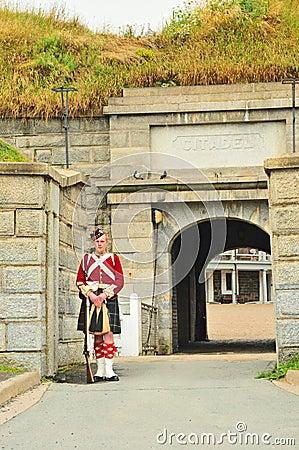 Fort George on Citadel Hill, Halifax, Nova Scotia Editorial Image