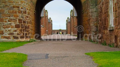 Fort George, Inverness, United Kingdom – 20 august 2017: View of Fort George`s main gate. Fort George is a military structure built by the British after a stock footage