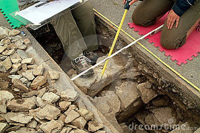Fort Henry excavation at Kingston Ontario Canada Editorial Photo