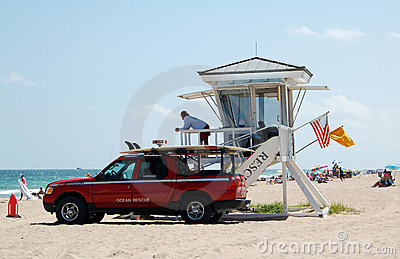 Fort Lauderdale beach lifeguards Editorial Photography