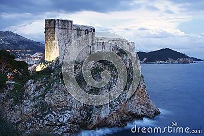 Fort Lovrijenac in Dubrovnik (Croatia)