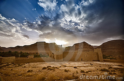 Fort in the Moroccan desert