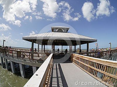 Fort Myers Beach Fishing Pier, Florida Editorial Photography