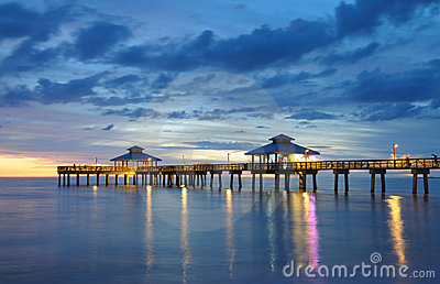 Fort Myers Pier at Sunset