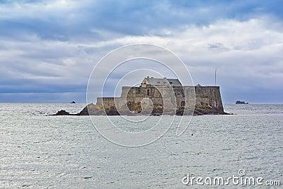 Insel ist im heiligen malo fort wurde im 17 jahrhundert aufgebaut