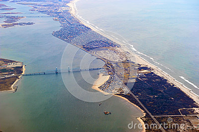 Fort Tilden, Belle Harbor, Rockaways Aerial Editorial Image
