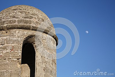 Fort Tower with Moon