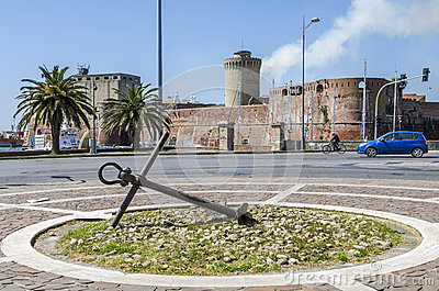 Fort Vicchia, Livorno Editorial Stock Photo