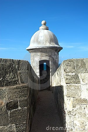 Fort wall turret