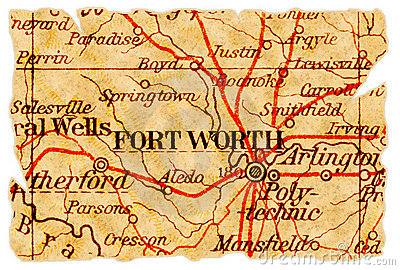Fort Worth old map