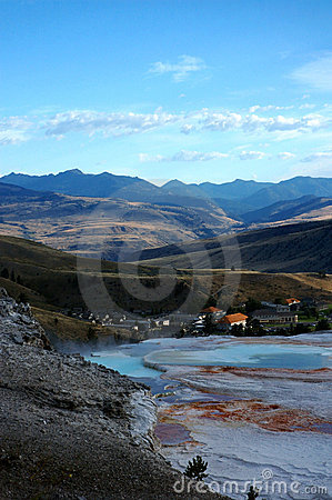 Free Fort Yellowstone From Mammoth Hot Spring Terraces Stock Image - 254961