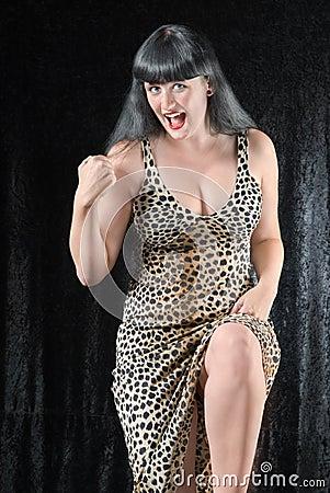 Forte donna della tigre