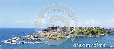 Forte Puerto Rico do morro do EL