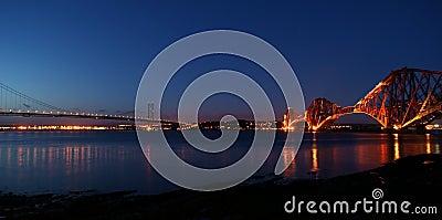 Forth Bridges at Night