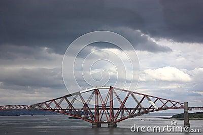 Forth rail bridge in Scotland