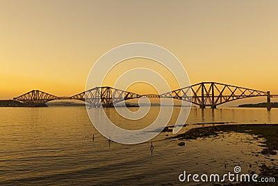The Forth Railway Bridge.