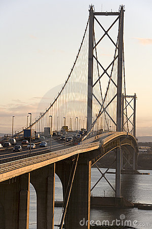 Forth Road Bridge - Edinburgh - Scotland Editorial Photography