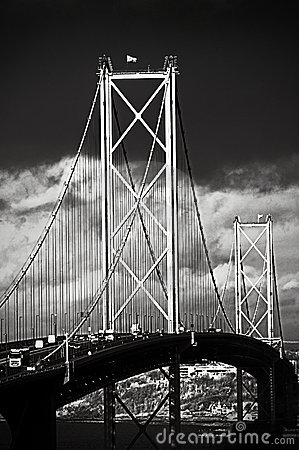 The Forth Road Bridge, Edinburgh, Scotland