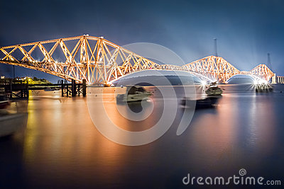 The Forth Road Bridge by night