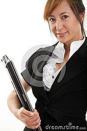 Forties atrakcyjny chiński bizneswoman