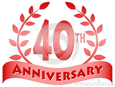 Fortieth Anniversary Banner/eps Stock Vector - Image: 46203369