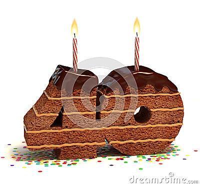 Fortieth birthday or anniversary cake