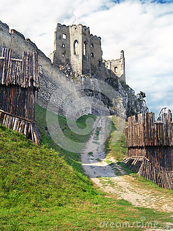 Fortification and chappel of The Castle of Beckov