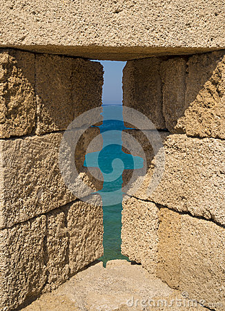 Free Fortifications And Battlements Of The Medieval City, Rhodes Royalty Free Stock Photography - 58048247