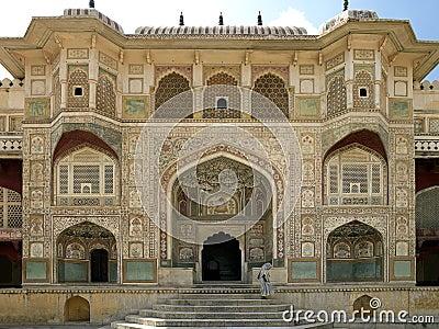 Fortificazione ambrata - Jaipur - India Immagine Editoriale
