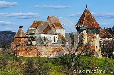 Fortified church of alma vii transylvania landmark in romania stock photography image 34728992 - Saxon style houses in transylvania ...