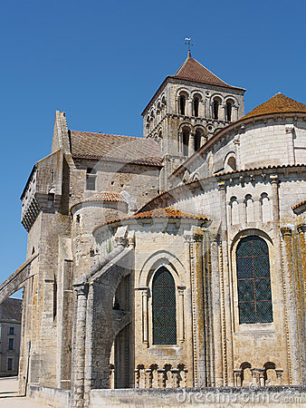 Fortified Saint Jouin  abbey church, France
