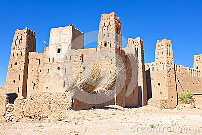The fortified town of Ait ben Haddou near Ouarzazate Morocco