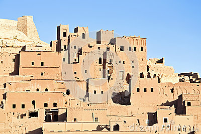 The fortified town of Ait ben Haddou near Ouarzazate Morocco
